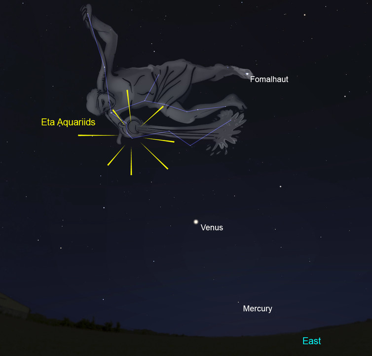 Eta Aquarids meteor shower will light up skies tomorrow