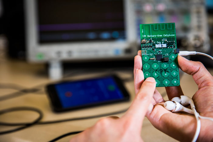This Battery-Free Cellphone Works by Harvesting Power From Ambient Radio Signals