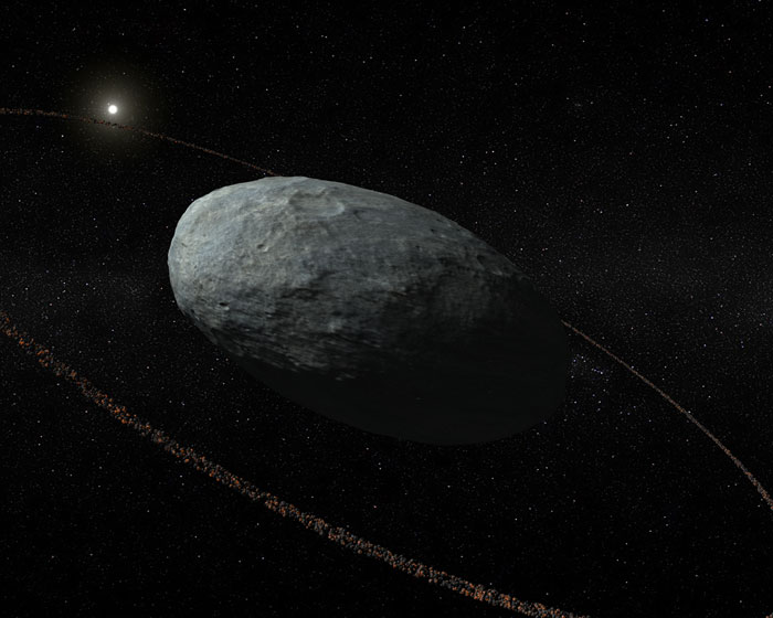Dwarf planet Haumea has its own ring system