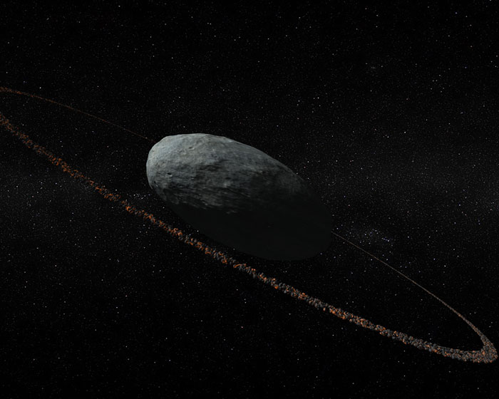 Dwarf planet has a ring to it