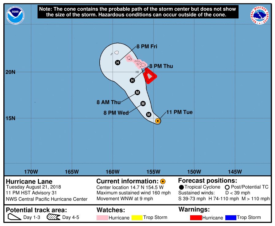 Hurricane Lane Poses Unprecedented Threat to Hawaii, Worst in Decades