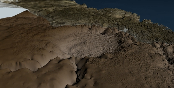 Crater discovered under Hiawatha glacier in Greenland with help of NASA