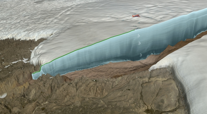 Ice age crater discovered beneath Greenland glacier