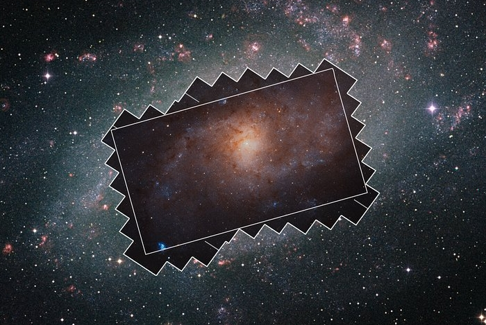 Hubble got the galaxy in the constellation of the Triangle