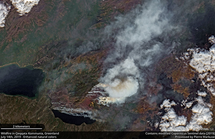 Arctic wildfires raging amid record heatwave