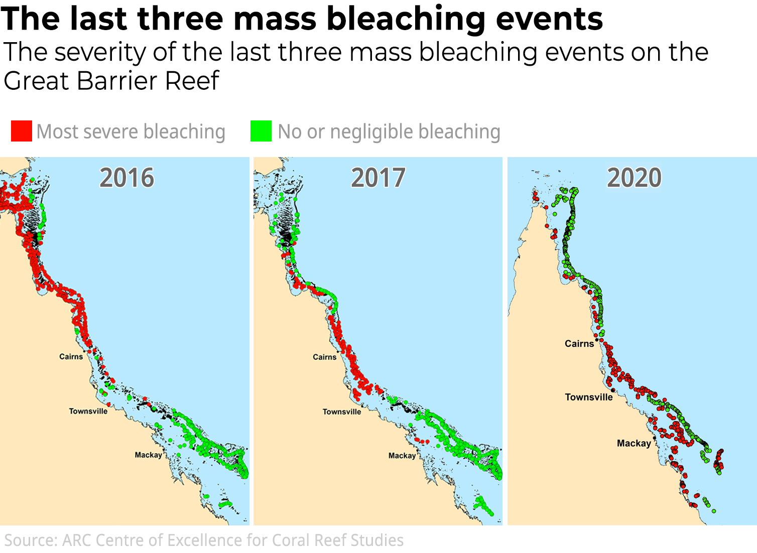 Great Barrier Reef suffers worst-ever coral bleaching, warn scientists