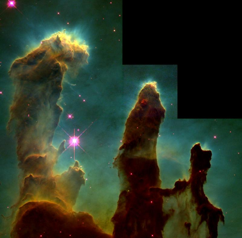 NASA released a Breathtaking Image of The 'Pillars of Creation'