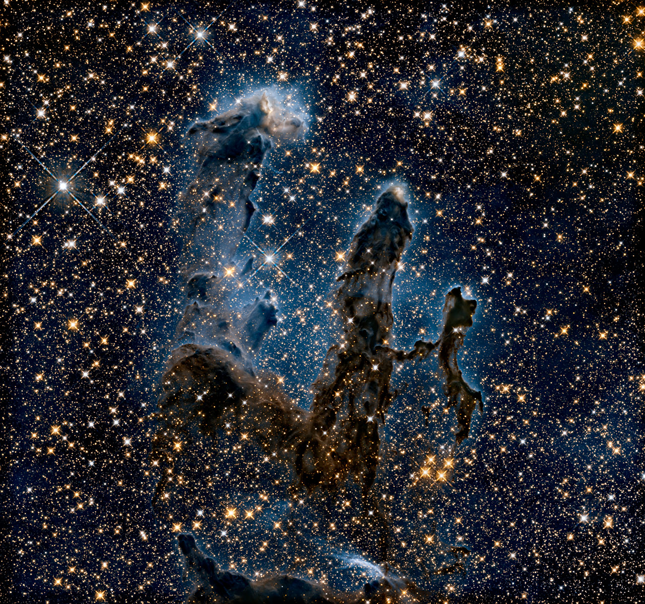 NASA Released Amazing Infrared View Of Pillars Of Creation