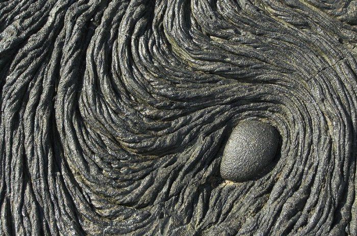 Pahoehoe lava in the Galapagos