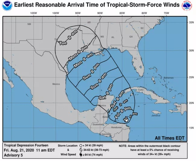 Two tropical storms a potential double threat to U.S. Gulf Coast