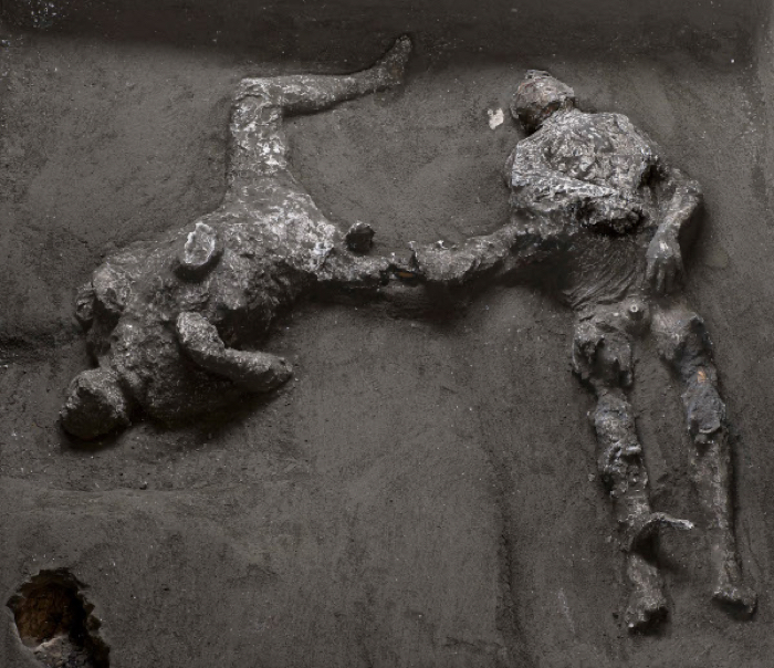 Remains of man and his slave discovered in Pompeii