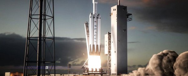 "Elon Musk admits there's a ""lot of risk"" in debut launch of SpaceX's Mars rocket"
